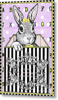 Bunny Baby Licensing Art Metal Print by Anahi DeCanio