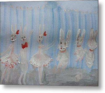 Bunny Hop Ballet Metal Print by Judith Desrosiers
