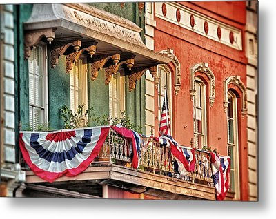 Bunting In Canton Square  Metal Print