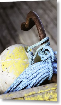 Buoy Rope And Anchor Metal Print by Agnieszka Kubica