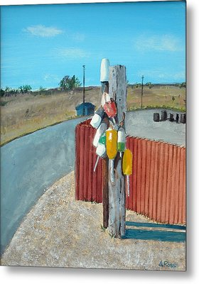 Buoys On A Pole Metal Print by Anthony Ross
