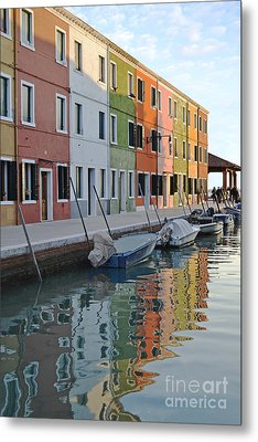 Metal Print featuring the photograph Burano Canal by Rebecca Margraf
