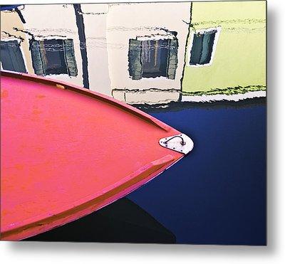 Burano Colorful Art  #1 - Burano Venice Italy Fine Art Photography Metal Print by Artecco Fine Art Photography