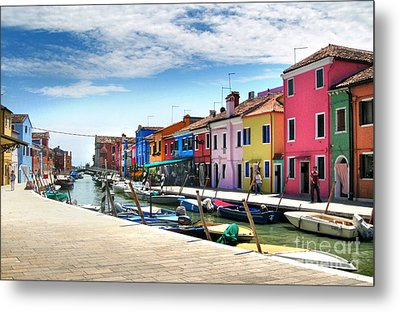 Burano Island Canal Metal Print by Gregory Dyer