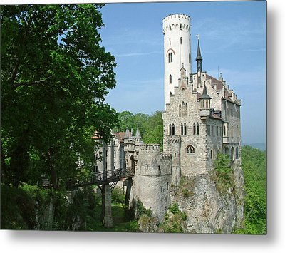 Metal Print featuring the photograph Burg Lichtenstein by Joseph Hendrix