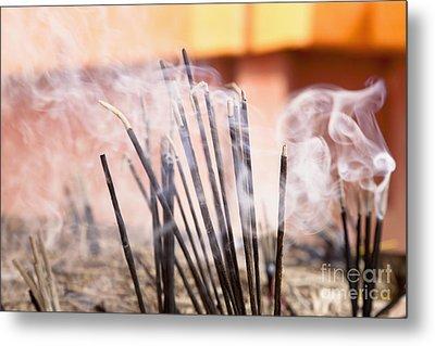 Burning Incense Metal Print by Inti St. Clair