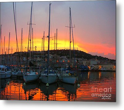 Metal Print featuring the mixed media Burning Sky by Rogerio Mariani