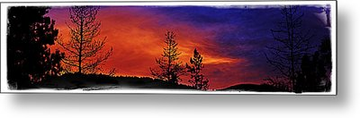 Metal Print featuring the photograph Burning Sunrise by Janie Johnson