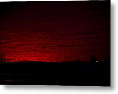 Burning Sunset Metal Print by Julie Smith
