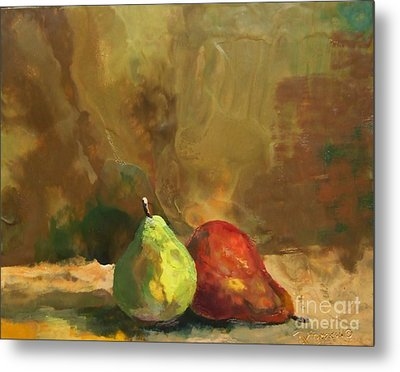 Burnished Pears Metal Print by Ruth Stromswold