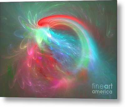 Burst Into Bloom - Abstract Art Metal Print