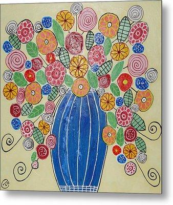 Burst Of Flowers Metal Print by Elizabeth Langreiter