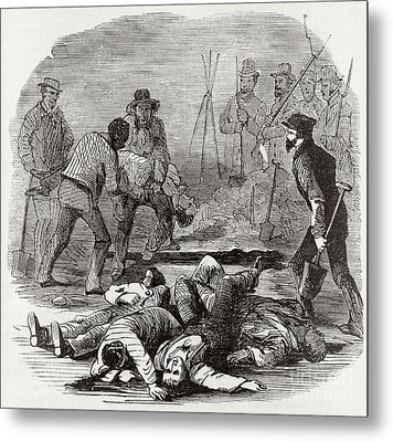 Burying The Dead After John Browns Metal Print by Photo Researchers