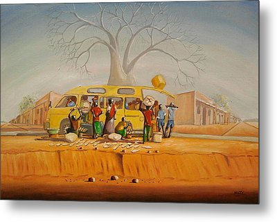 Bus Stop Metal Print by Nisty Wizy