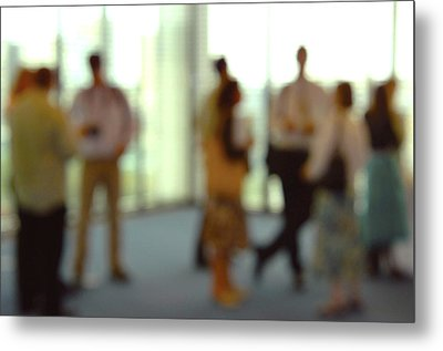 Business People Metal Print by Johnny Greig