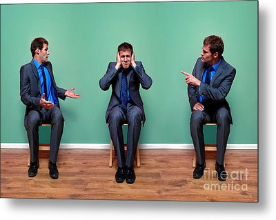 Businessman Argument Metal Print by Richard Thomas