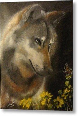 Butter-wolf Metal Print