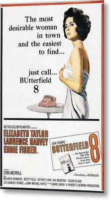 Butterfield 8, Elizabeth Taylor, 1960 Metal Print