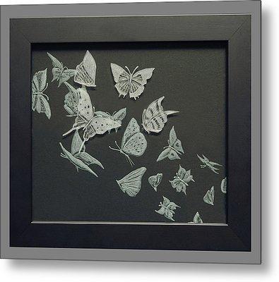 Butterflies Metal Print by Akoko Okeyo