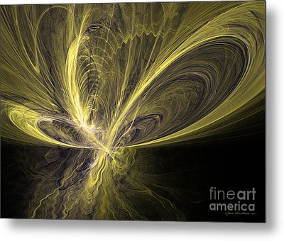 Butterfly - Abstract Art Metal Print