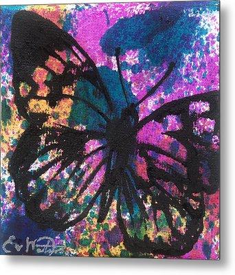 Butterfly Bliss Metal Print by Oddball Art Co by Lizzy Love
