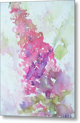 Butterfly Bush Plein Air Metal Print