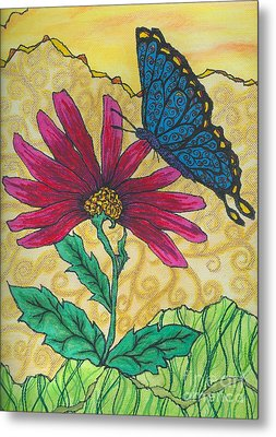 Butterfly Explorations Metal Print by Denise Hoag