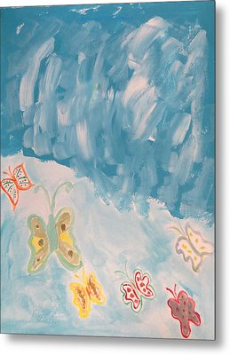 Metal Print featuring the painting Butterfly Flight by Sonali Gangane