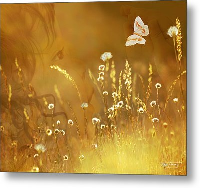 Butterfly Kiss Metal Print by Torie Tiffany
