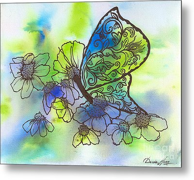 Butterfly Transformations Metal Print by Denise Hoag