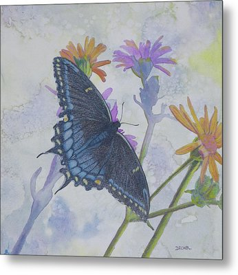 Metal Print featuring the painting Butterly by Robert Decker