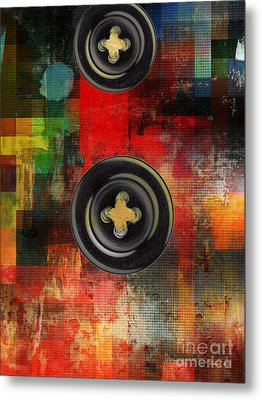 Button To The Top Metal Print