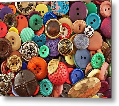Buttons Metal Print by Jeff Suhanick