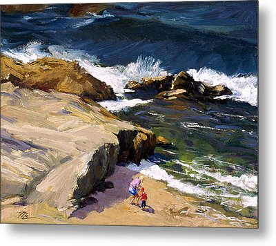 By The Beautiful Sea Metal Print by Mark Lunde