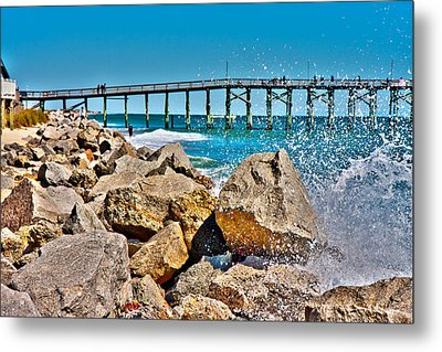 By The Pier Metal Print by Betsy Knapp