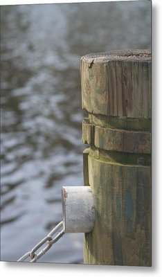 By The River Metal Print by Lou Belcher