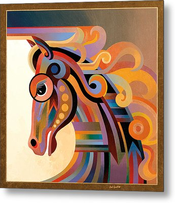 Caballo Metal Print by Bob Coonts