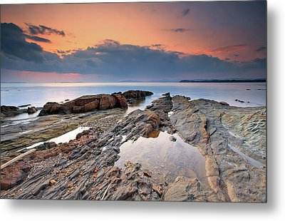 Cabasson Beach At Sunset Metal Print by Eric Rousset