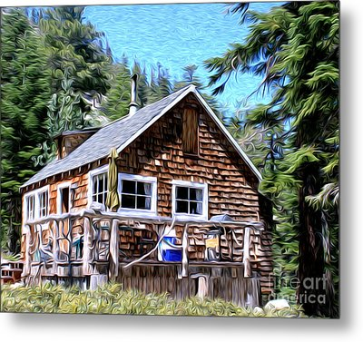 Metal Print featuring the photograph Cabin By The Lake by Anne Raczkowski