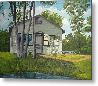 Cabin Up North Metal Print by Norm Starks