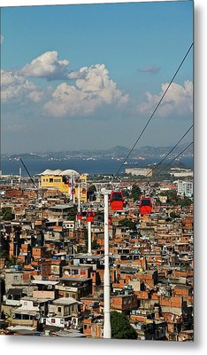 Cable Car Complex Metal Print by Ruy Barbosa Pinto