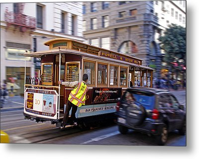 Cable Car Metal Print by Rod Jones