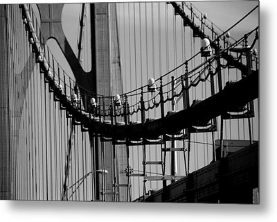 Cables Metal Print by John Schneider