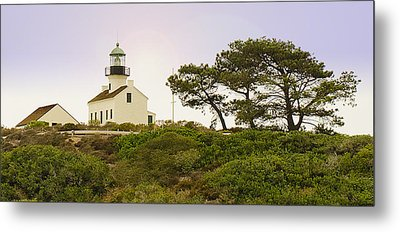 Cabrillo National Park Lighthouse Metal Print by MaryJane Armstrong