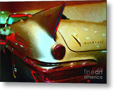 Cadillac Eldorado . Painterly Style Metal Print by Wingsdomain Art and Photography