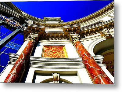 Caesars Palace Architecture Metal Print by Linda Edgecomb