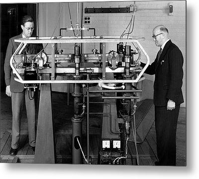 Caesium Atomic Clock, 1956 Metal Print by National Physical Laboratory (c) Crown Copyright