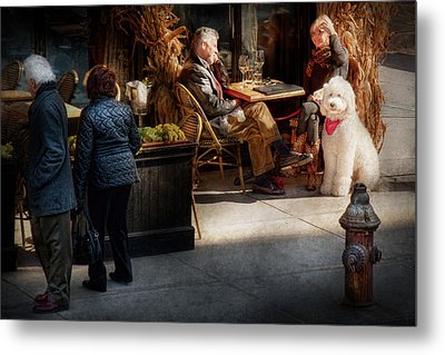 Cafe - Ny - High Line - Waiter I Would Like To Order  Metal Print by Mike Savad