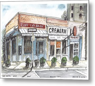 Cafe Charbon Nyc Metal Print