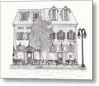 Cafe Mantic Metal Print by Michelle Welles